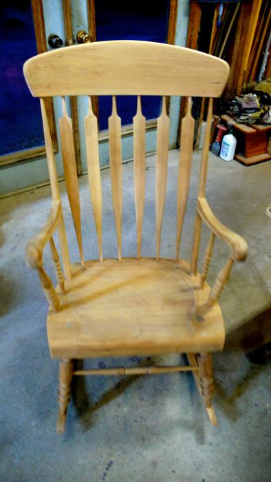 Cherry Wood Rocking Chair Restoration Ball Furniture Refinishing London Ontario