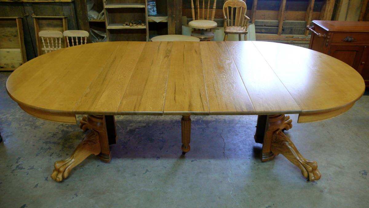 Antique Oak Table Restoration Ball Furniture Refinishing